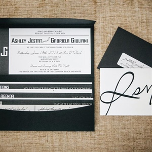 DIY Black and White Invitations