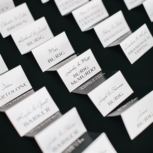 Simple Contemoporary Escort Cards