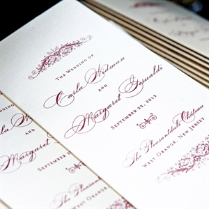 Formal Burgundy Script Programs Booklets