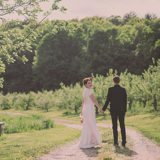 Between the ceremony and the reception, the couple took a moment to walk the property and snap a few photos.