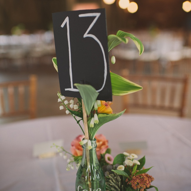 Table numbers were chalkboard-themed, written in black and white in a simple font.