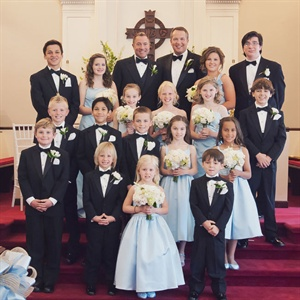 Light Blue and Black Wedding Party