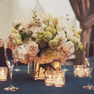 Hydrangea and Rose Floral Arrangement