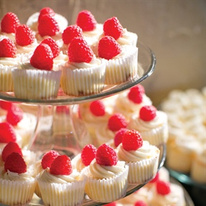 Raspberry-Topped Cupcakes