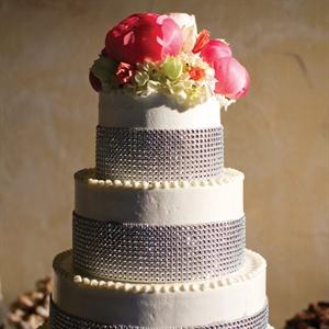 Glam Rhinestone Wedding Cake