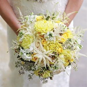 Textured White Bridal Bouquet