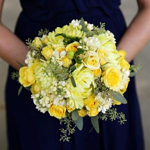 Yellow Bridesmaid Bouquet