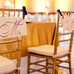 Mr and Mrs Chiavari Chair Signs