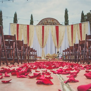 Red Rose Petal Ceremony Decor