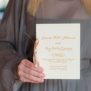 Ivory Wedding Programs