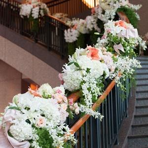 Hydrangea Stairway Decor