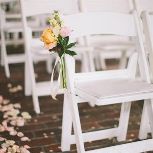 Simple Bouquet Aisle Markers
