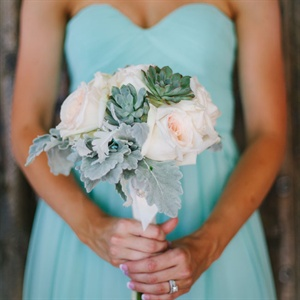 Rose and Succulent Bridesmaid Bouquets