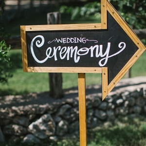 Chalkboard Ceremony Sign