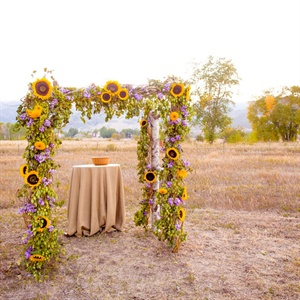 Sunflower Ceremony Decorations