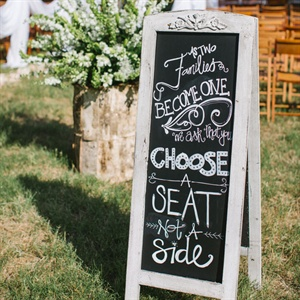 Open Seating Chart Sign