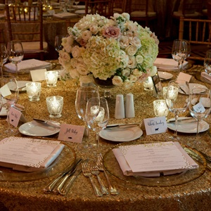 Golden Table Decor