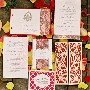 Red and Gold Invitations
