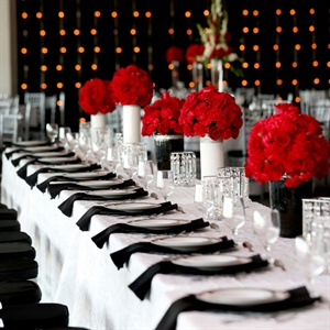 Modern Red, Black and White Reception Tables