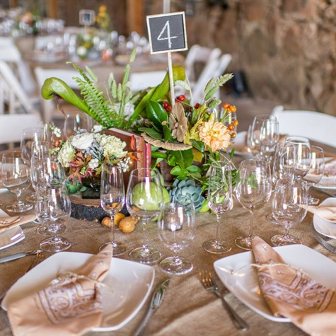 Rustic Reception Tables