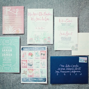 Soft and Romantic Invitation Set