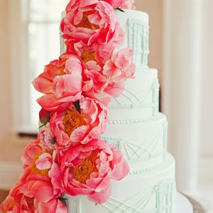 Peony Decorated Cake