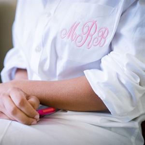 Pink Monogrammed Shirt