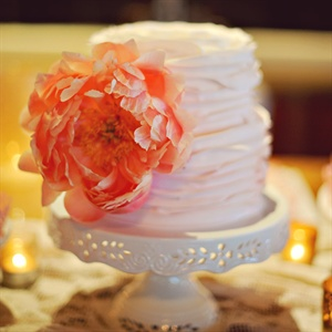 Two Tier Ruffle Cake