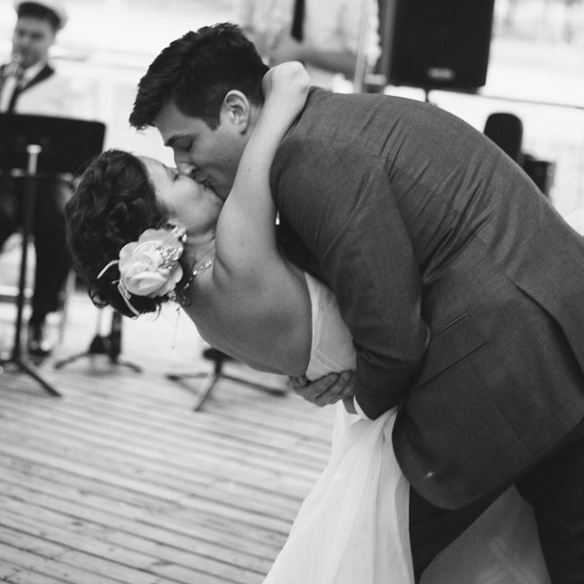 Lauren and Zach had their first dance to the lively music of the Big Fun Brass Band.