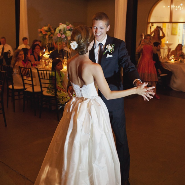 "The couple shared their first dance to Michael Buble's ""Everything."""