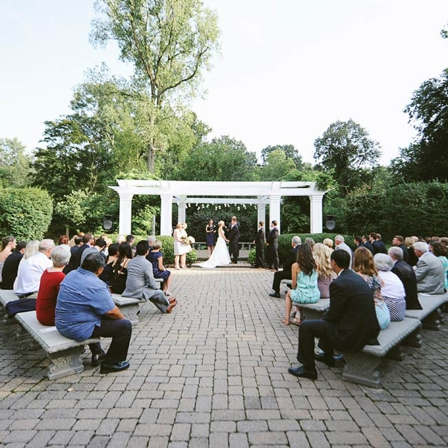 Erin and Chip's outdoor ceremony didn't feature much decoration given the natural beauty of the location.