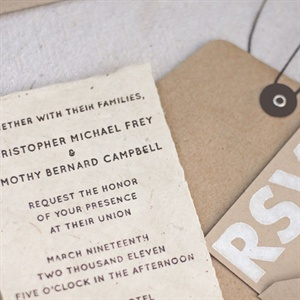 Rustic Handcrafted Invitations