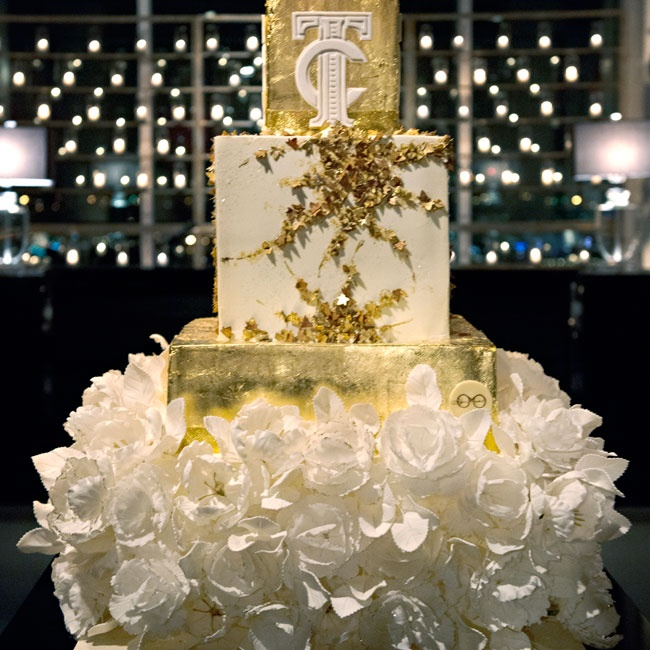 "Legendary baker Sylvia Weinstock, a friend of Todd's, created the gilded cake. ""We told her the overall theme and then let her do the rest. It was spectacular and perfect!"" Todd says."