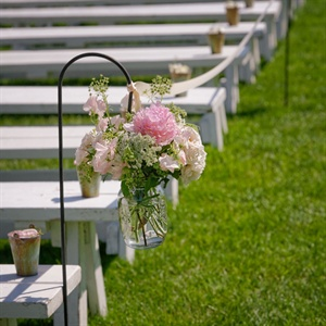 Pink Floral Aisle Markers
