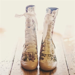 Victorian-Inspired Bridal Booties