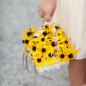 Blackeyed Susan Flower Girl Basket