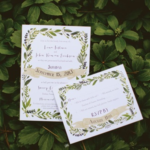 Leaf Invitation Motif