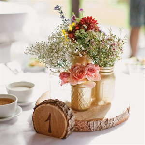 Metallic Woodland Table Decor
