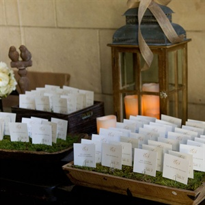 Moss Escort Card Tray