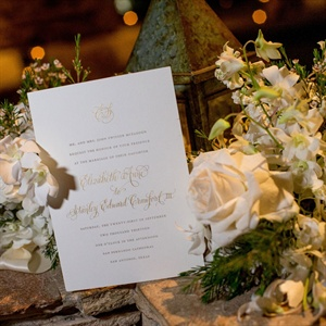 Gold Accent Invitations