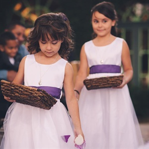 Purple and White Flower Girls