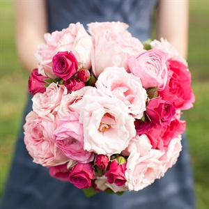 Pink Rose, Lisianthus and Ranunculus Bouquet