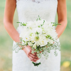 Modern Ivory Bouquet with Seeded Eucalyptus