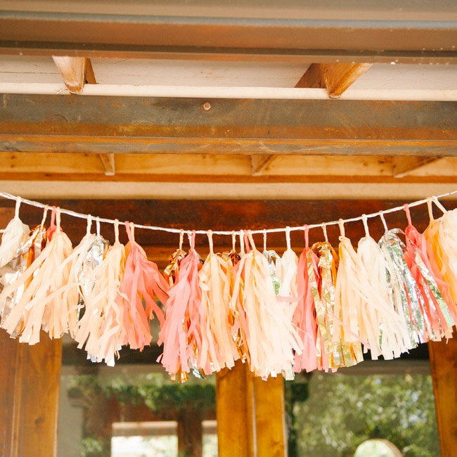 Festive tassels made a cheery addition to the reception decor.