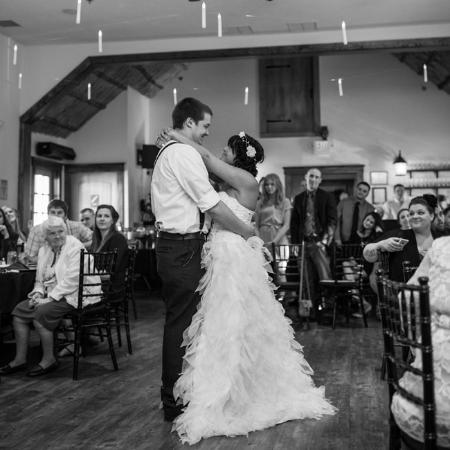 "April and Jordan knew immediately that they wanted ""I Don't Mind"" by Defeater to be their first dance song. ""I have a recording from a few years ago of Jordan singing it to me in the car. It has always made me cry. I knew that one day it would be our wedding song."" says April."