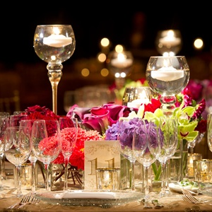 Bright Mixed Floral Centerpieces