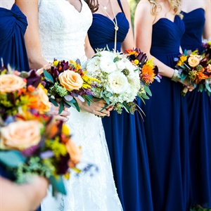 Colorful Bridesmaid Bouquets