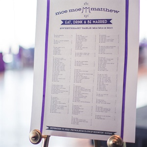 Purple Accent Seating Chart
