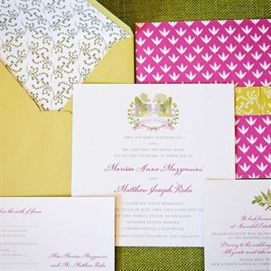 Pink and Gold Invitation Suite