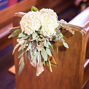 White Hydrangea Ceremony Flowers